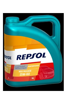 REPSOL PERFORMANCE HIGH MILEAGE 25W60 4 LITROS
