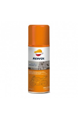 REPSOL MOTO CLEANER &POLISH SPRAY 400 ml.